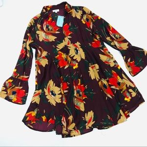 Umgee USA 🇺🇸 Women's Floral Tunic